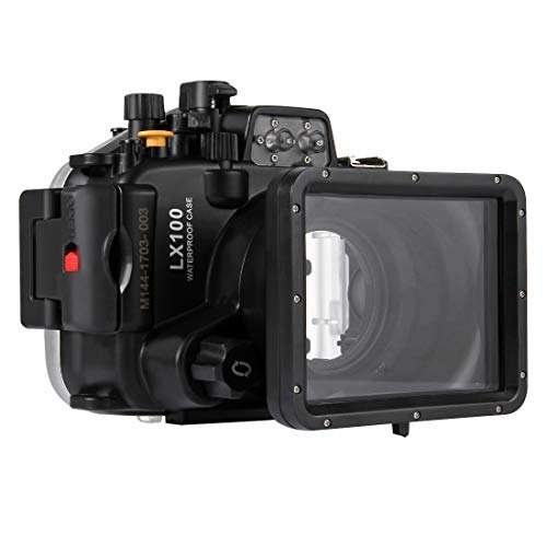 PULUZ 40m Underwater Depth Diving Case Waterproof Camera Housing for Panasonic LUMIX DMC-LX100 from PULUZ