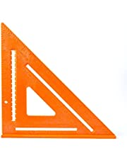 Swanson Tool Co T0701 12-Inch Composite Speedlite Square Layout Tool, Orange, made of High Impact Polystyrene