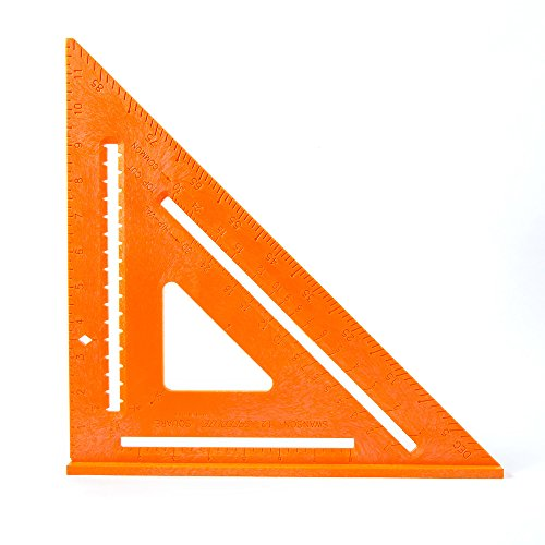 Swanson Tool T0701 12-Inch Speedlite Square Layout Tool (Structural Foam Plastic Orange)