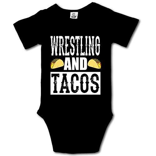 Haibaba Wrestling and Tacos Infant Climbing Short-Sleeve Jumpsuit by Haibaba