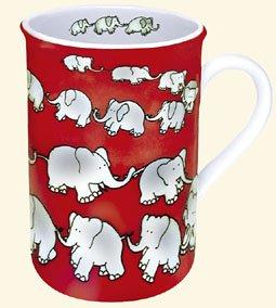 KONITZ Chain of Elephant Red mug 111 009 0017 (japan import)