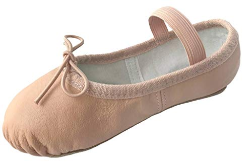 Dancina Ballet Shoe Full Leather Sole 10CH Nude (Ballet Pink)