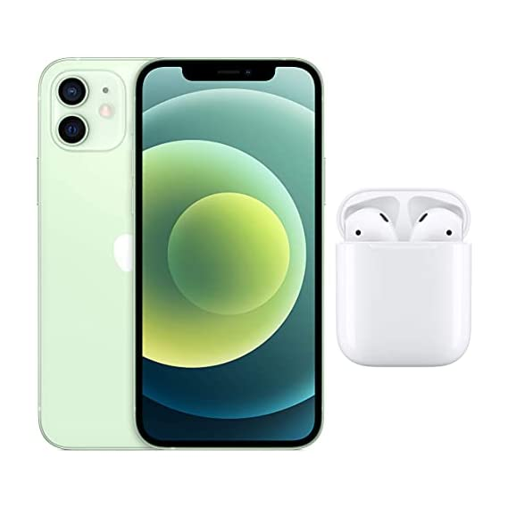 New Apple iPhone 12 (128GB) - Green with AirPods with Charging Case