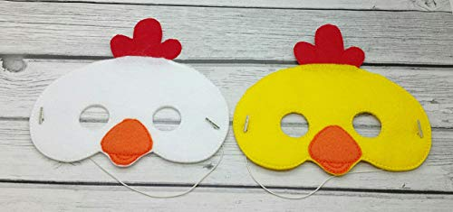 Chicken rooster farm animal felt mask, Halloween costume, toddler pretend play, dress up ()