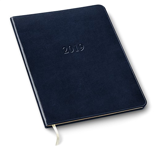 2019 Gallery Leather Large Weekly Planner Acadia Navy 9.75