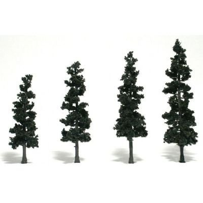 Woodland Scenics WSTR1581 4 in.-6 in Ready Made Tree Value Pack Conifer