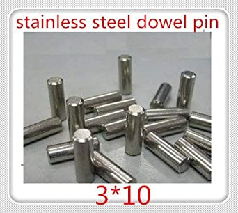 50PCS M3 Stainless Steel Round Locating Dowel Pin Fasten Elements Assortment Kit