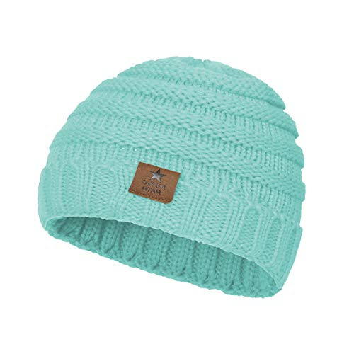 Zando Baby Hats Winter Infant Toddler Beanies Cute Ribbed Knit Children's Warm Beanie Caps for Baby Lake Blue