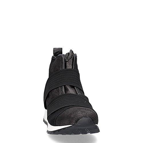 Andia Fora Kuma polacco in pelle nera con fasce elastiche