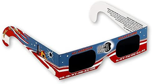 Eclipse Glasses for the Great American Eclipse 2017 (5 Pack) - Eclipse Shades CE & ISO Certified - Made in USA