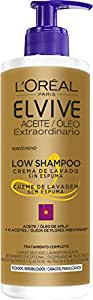 L'Oreal Paris Elvive Champú Low Shampoo Cabello Rizado - 400 ml