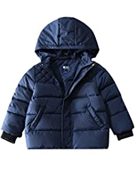 M2C Boys Puffer Thicken Down Jacket with Hood Windproof Warm