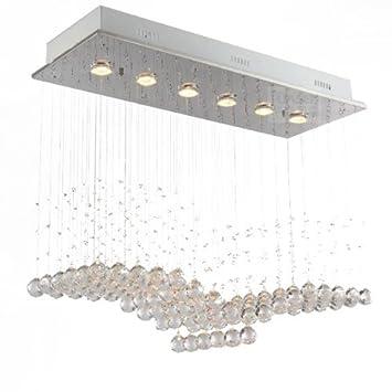 Fuloon Neu Moderne Quadratische K9 Kristall Deckenleuchten Leuchten Pendelleuchte Lampe Esszimmer Wohnzimmer Kristallkugel Deckenleuchte