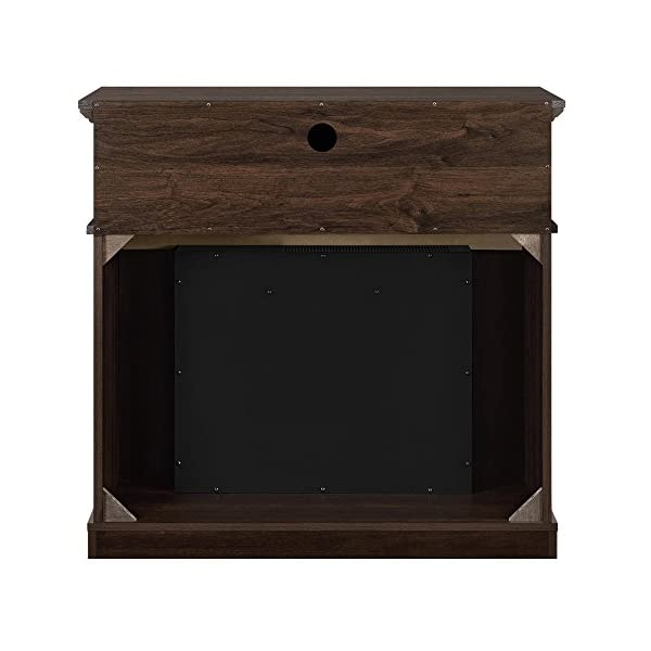 """Ameriwood Home Thompson Place Media Fireplace for TVs up to 37"""", Cherry"""