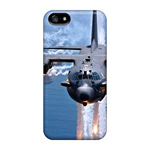 DaMMeke Premium Protective Hard Case For Iphone 5/5s- Nice Design - Military Gunship Contrails