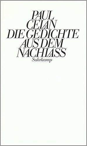 Amazonit Die Gedichte Aus Dem Nachlaß Paul Celan