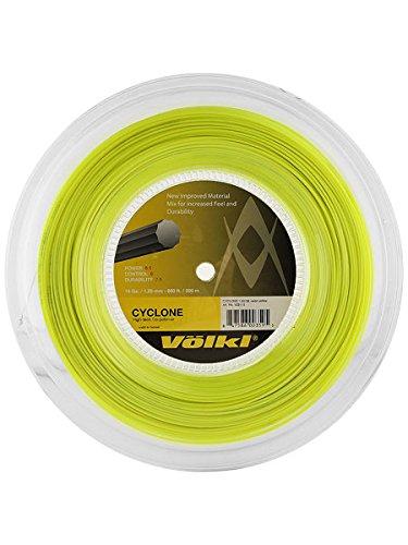 Volkl Cyclone Reel Neon Tennis String (Yellow, 18-Gram)