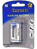 Immense 6LR61 9v Alkaline Battery (2 Blister Packs with 1 Cell Each)