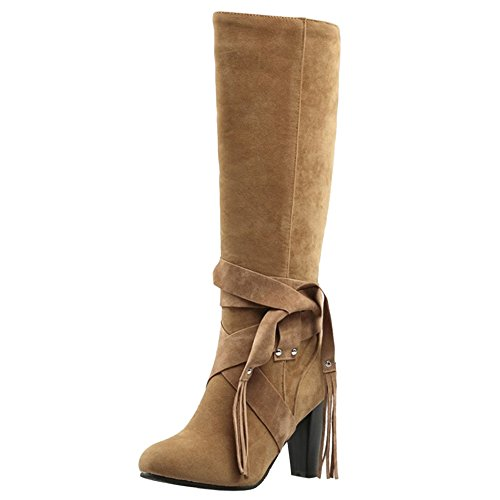 Boots TAOFFEN Yellow on Pull Lang Women's zqEqASxw