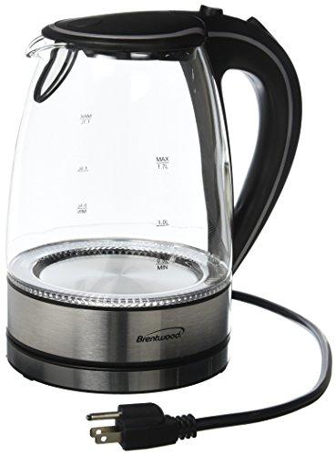 Brentwood Appliances Kt-1900bk Tempered Glass Tea Kettles, 1.7-liter, Black Picture