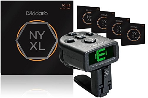 D'Addario NYXL1046 Light Electric Guitar Strings 5-Pack with FREE NS Micro Headstock - Does Shape Your What Head Of Mean The