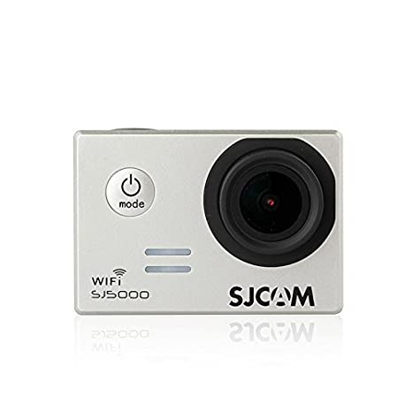 SJCAM SJ5000 WiFi - Cámara deportiva de acción (impermeable, video de alta definición 1080p/720p) plateado + batería Wingoneer extra