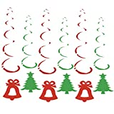 BESTOYARD Christmas Hanging Swirl Dangling Spiral Ornaments Bell Christmas Tree Party Decoration