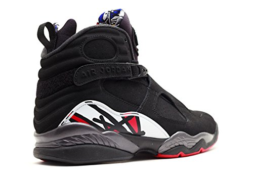 Nike Mens Air Jordan 8 Retro Playoff Black/Varsity Red Leather Basketball Shoes Size 10.5 7R622Dr2D