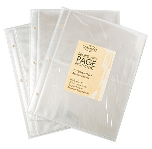 - Brownlow Recipe Card 30 Page Protectors - Package of 10 (Set of 3)