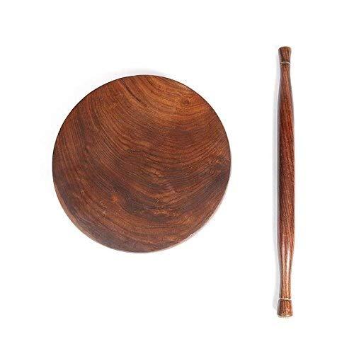 G/&D Brown Holz Chakla Belan und Nudelholz Muttertag Geschenk Holz Chakla Belan 9,5 Zoll