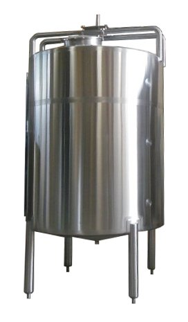 Single Shell Stainless Steel Mixing / blending Tank - 5000 Liters / 1321 Gallons - Inox Single