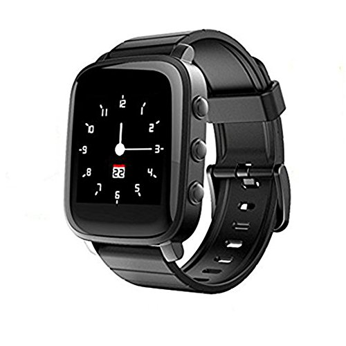 SMA-Q2 Activity Tracking SmartWatch Heart Rate Smart Watches,40 Days Standby,24h Always on Memory LCD Screen,Personality Watchfaces Stopwatch Remote Capture,For iPhone/Android Black