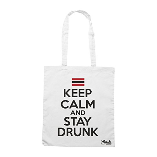 Borsa Keep Calm And Stay Drunk - Bianca - Funny by Mush Dress Your Style