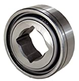 "Peer Bearing GW211PPB3 Agriculture Heavy Duty Disc Harrow Bearing, Square Bore, Relubricable, Two Triple Lip Seals, 1.5"" ID, 3.9370"" Spherical OD, 1.3120"" Inner Ring Width, 1.3120"" Outer Ring Width"