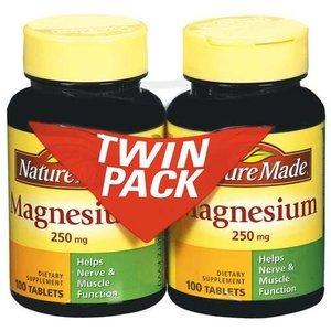 Природа Made магния Таблетки, 250 мг, 100 Граф (в упаковке 2)