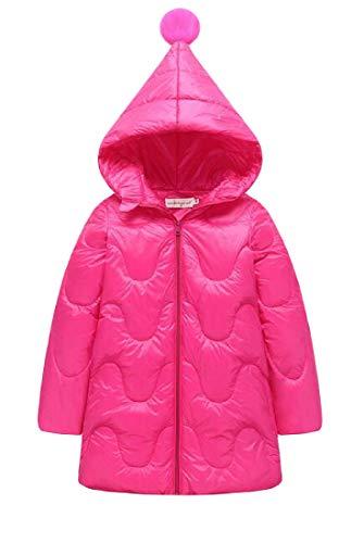 Media H Lunghezza Puffer Rosa Elegante Di E Zip up Rossa amp; Cappotto Outwear Incappucciato Ragazza' Giù Il vqP4Zvgr