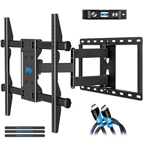 Mounting Dream MD2295 Full Motion TV Wall Mount Bracket with Articulating Arm, 78 LBS Loading Capacity, Max 600 x 400mm VESA, Fits Most of 42-70 Inches LED and LCD TV (60 Inch Tv Wall Mount For A 3d Tv)