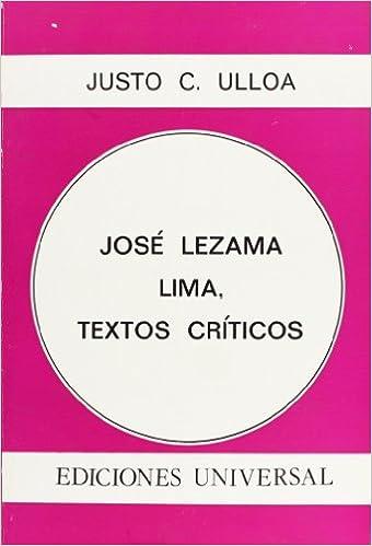 Jose Lezama Lima: Textos Criticos (Colección Polymita) 1st Edition