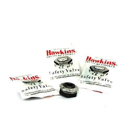Hawkins B1010 3-Piece Pressure Cooker Safety Valve, 1.5 to 14-Liter ()