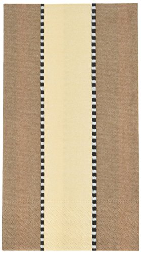 Entertaining with Caspari Faucigny Paper Guest Towels (15 Pack), Taupe