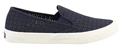 Sperry Top-Sider Women's Seaside Nautical Perf Sneaker, Navy, 8 Medium US