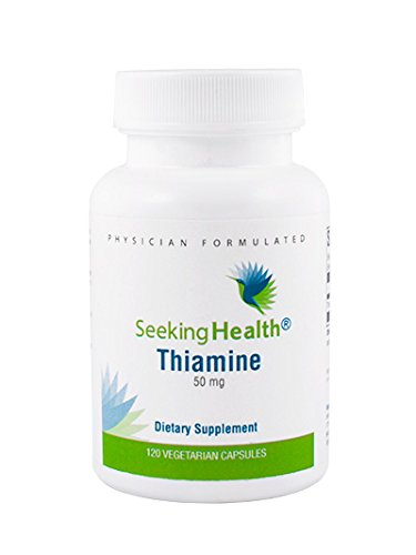 Seeking Health | Thiamine Supplement | Vitamin B1 | 50 mg | 120 Vegetarian Capsules