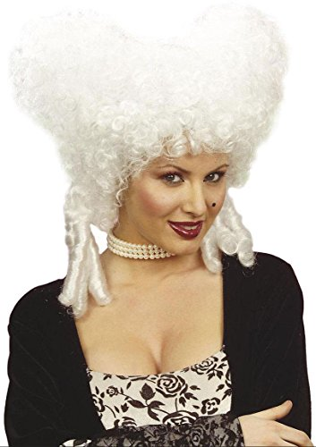 Adult's White Baroque Noble Woman Wig (Marie Antionette Wigs)