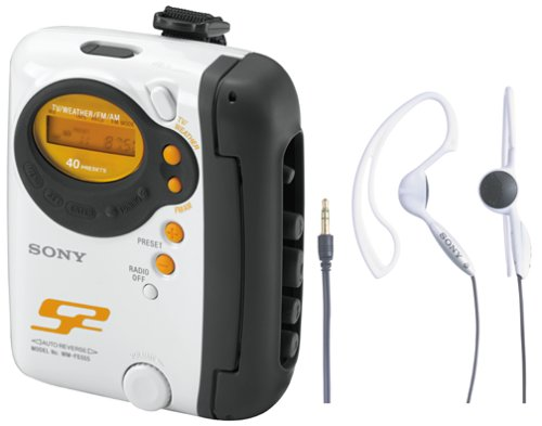 Sony WM-FS555J S2 Sports Cassette Walkman with Digital Tuner