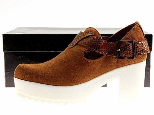 Pumps Front Ladies M High Shoes Platform Camel Kathamag Summer Shoes Leather zqw786g