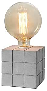 """Crystal Art 4.72""""X4.72"""" Concrete Finish Cement Table lamp"""