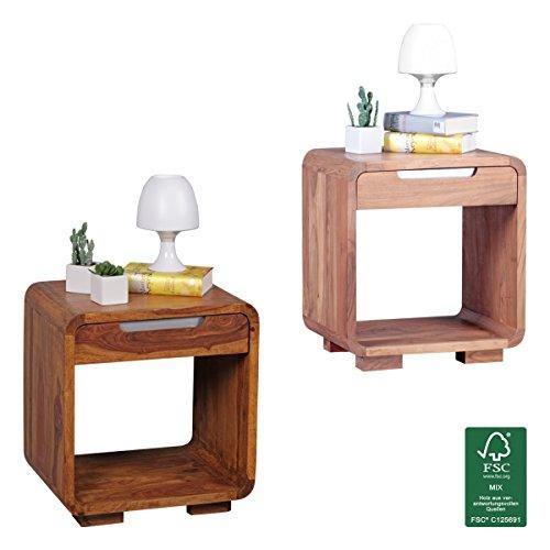 FineBuy-Design-Nachttisch-Massivholz-Nacht-Kommode-50-cm-mit-Schublade-Boxspringbett-Nachtkstchen-Natur-Holz-massiv-dunkel-braun-Nachtkonsole-Landhaus-Stil-Schlafzimmer-Mbel-Nachtschrank