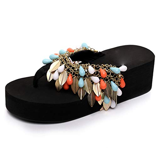 MEIZOKEN Women Summer Flip Flops Summer Footwear with Acrylic Beads Beach Shoes Girl's Sandalet Casual Shoes