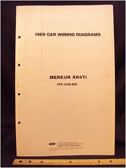Miraculous 1989 Mercury Merkur Xr4Ti Electrical Wiring Diagrams Schematics Wiring Database Mangnorabwedabyuccorg