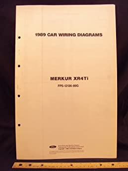 1989 mercury merkur xr4ti electrical wiring diagrams schematics rh amazon com